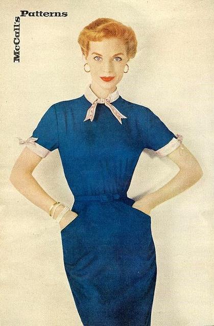 #blue#vintage #1950s #elegant #dress #fifties #clothes #style #fashion