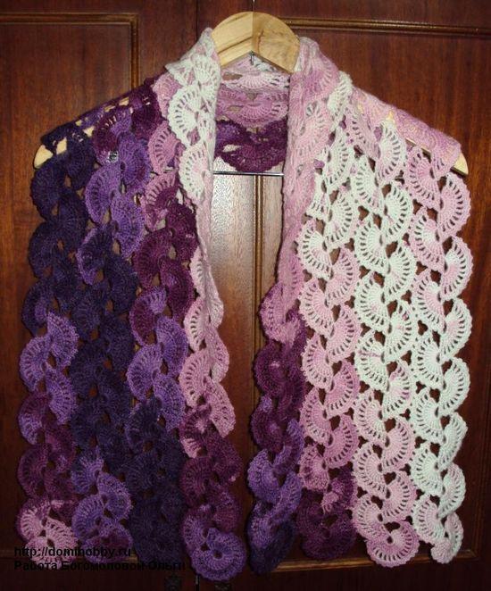 Crocheted scarf  ~so pretty