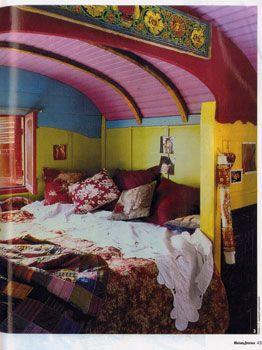 bohemian design interiors colors