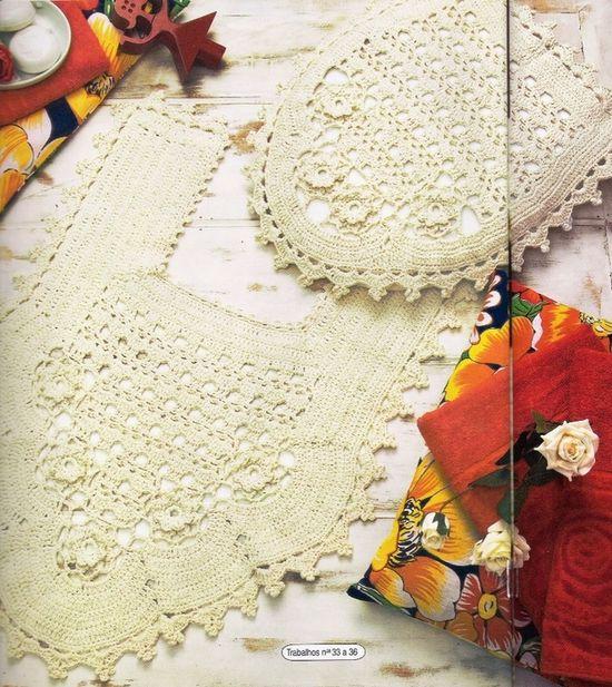 Crochet beige bathroom decor ?LCB? with diagram