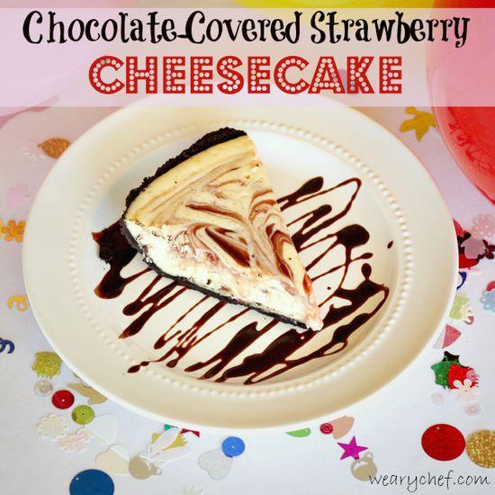 Chocolate Covered Strawberry Cheesecake #dessert #cheesecake