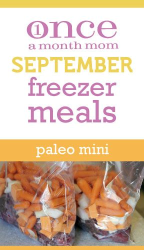 Paleo mini freezer menu seasonal for the month of September. Grocery list, recipe cards, instructions, labels and more.