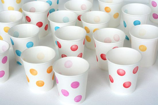 Stamped party cups.