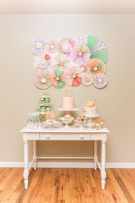 Bake Shop Party Baking Party in Peach & Mint via Kara's Party Ideas karaspartyideas.com #peach #bakeshop #bake #shop #party #ideas