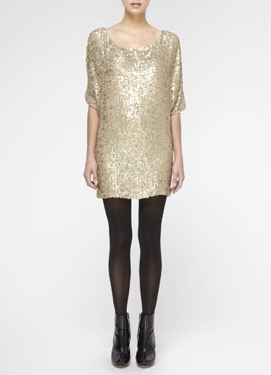 matte sequin dress