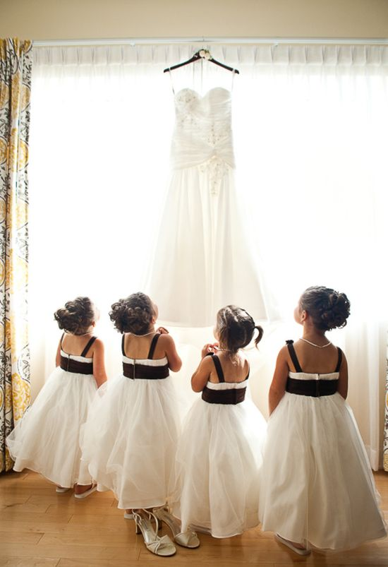 Black & white flowergirl dresses #Wedding #Planning ideas itunes.apple.com/... plus tips on how to keep your costs down, with lots of budget ideas ... For more flowergirl wedding ideas pinterest.com/... ???? … #white #wedding #ceremony #reception #bride #bridesmaids #groom #groomsmen #bouquets #dresses #rings #cakes #tables #favors #ideas …