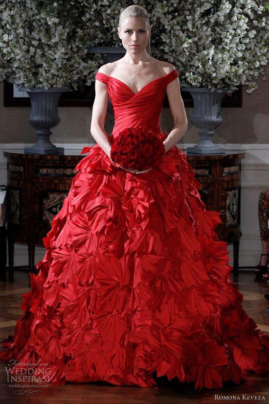 Bridal Red - red wedding dress