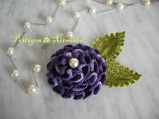 "Crochet - my brooch ""FLOWER DALIA"""