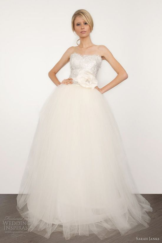sarah janks bridal 2013 couture coco strapless ball gown wedding dress