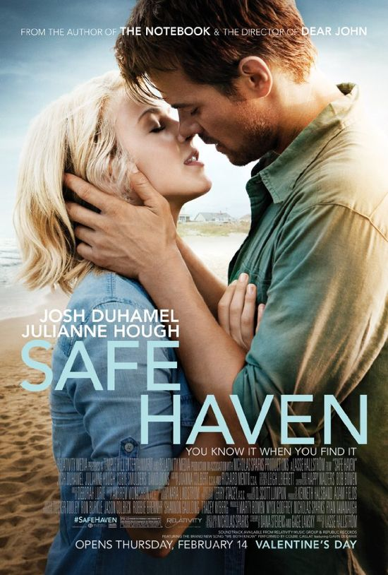 Safe Haven (2013) A young woman with a mysterious past lands in Southport, North Carolina where her bond with a widower forces her to confront the dark secret that haunts her. Script and acting is not very convincing.  The film is very slow and starts to bore after 30 minutes; nothing seems to happen and there is no character development worth mentioning. The end has a little surprise, but still happy ever after...  (**)