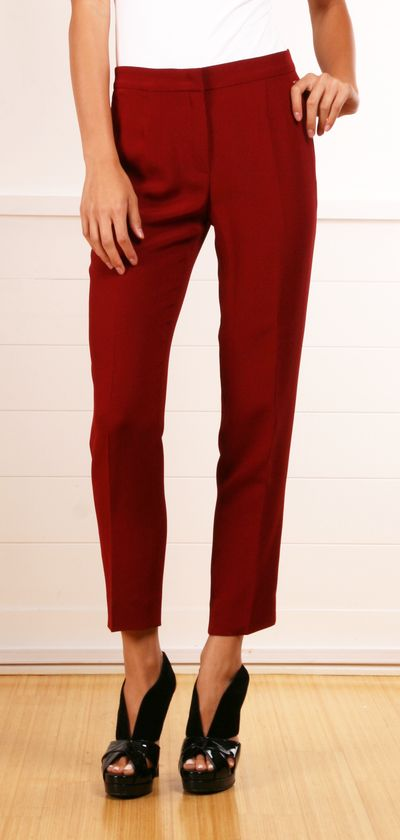 Escada vermillion tapered pants