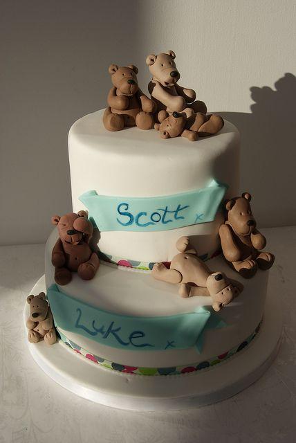 Teddy Bear Naming Day Cake