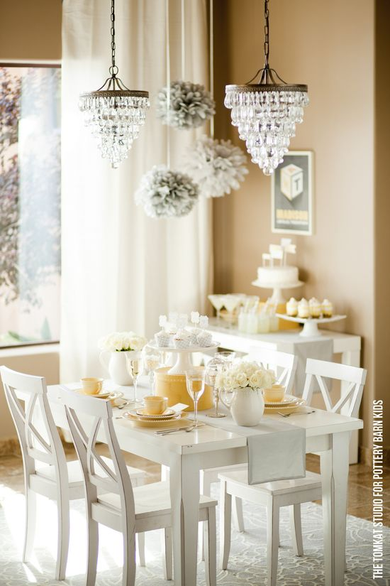 my home office transformed to a baby shower for @Pottery Barn Kids
