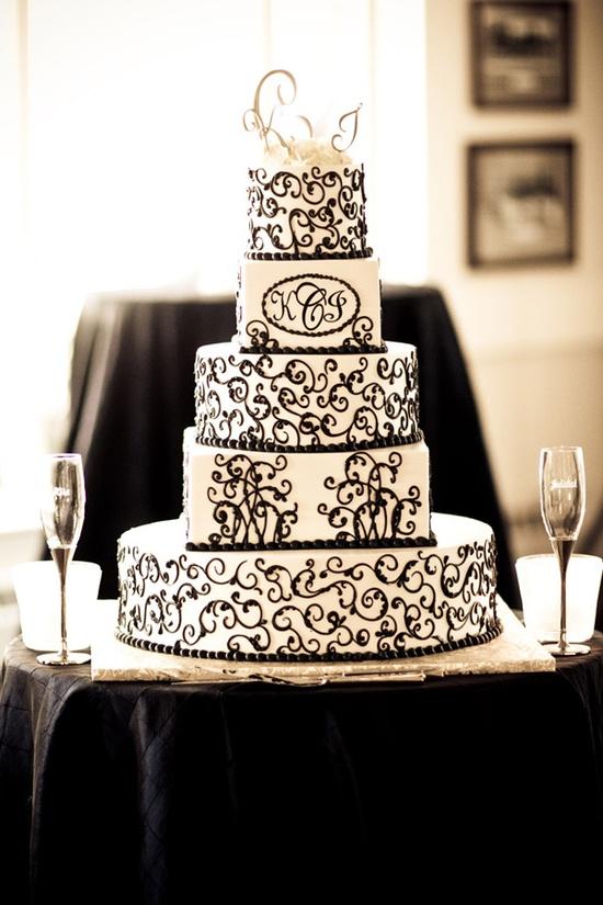 Black and white wedding cake Maybe