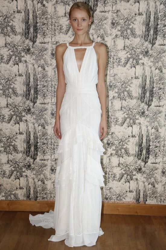A breezy tiered wedding dress from Temperley London's dreamy spring 2013 collection