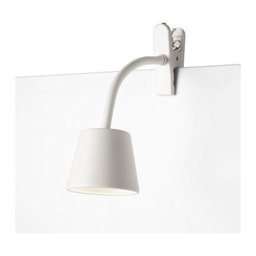 TISDAG LED klemspotlight - hvid  - IKEA