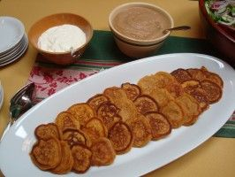 Sweet Potato Latkes : Recipes : Cooking Channel