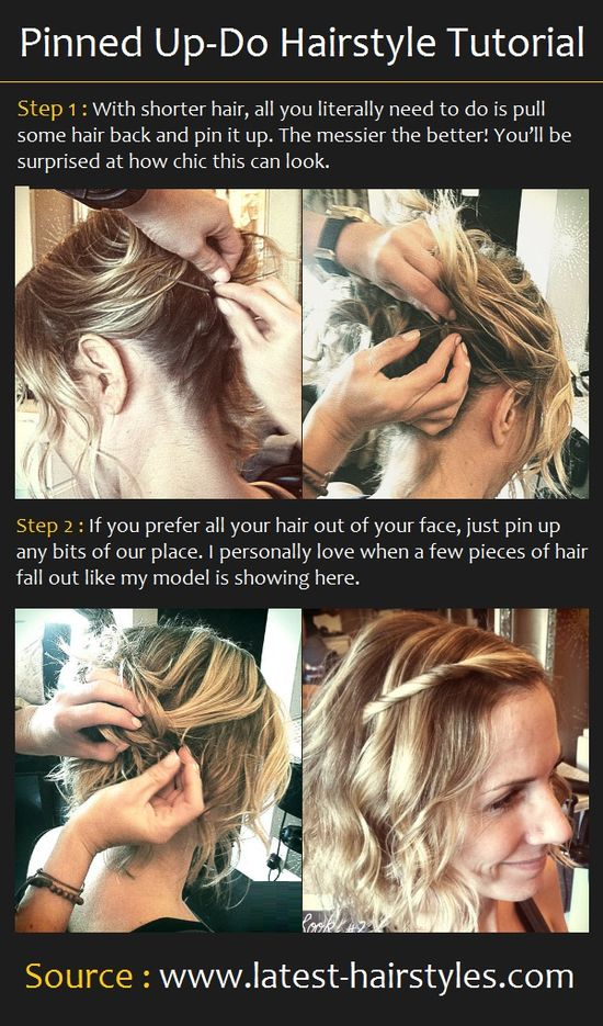 Pinned Up-Do Hairstyle