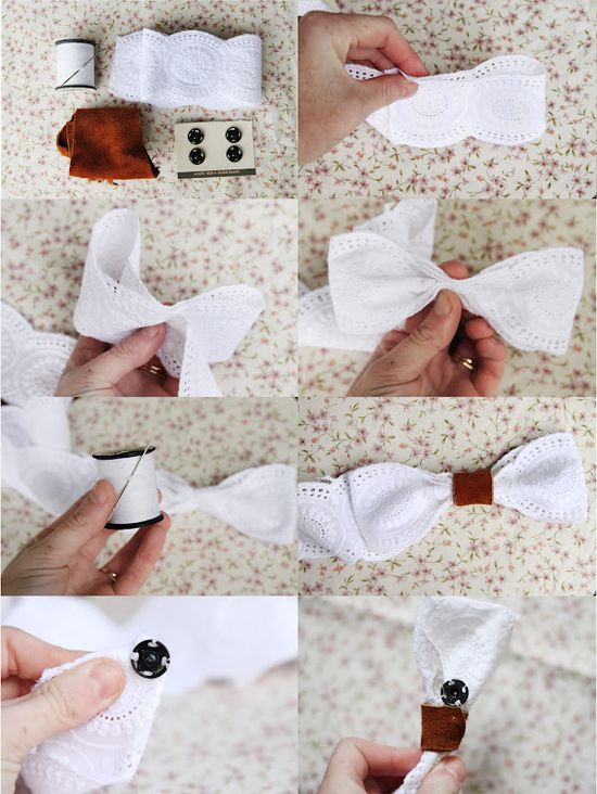 cute lace bow belt DIY.