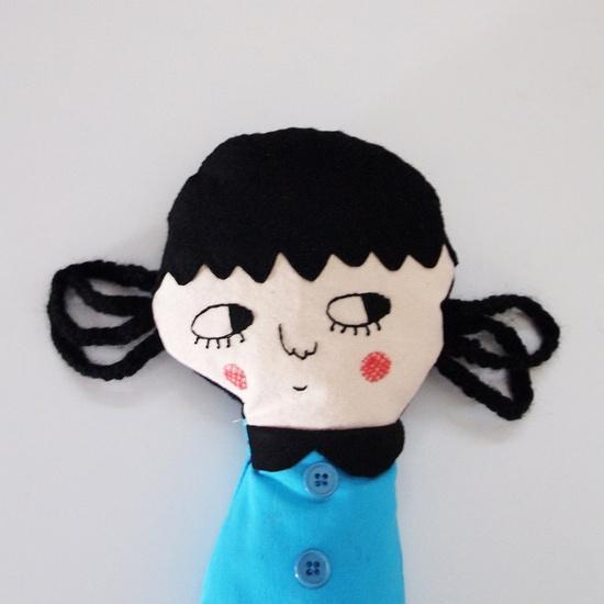 Betty,  one-of-a-kind handmade art doll.