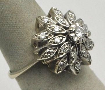 Vintage starburst design diamonds.