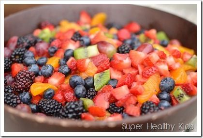 Fruit Salad - I like how small all the pieces are.  Fruit salad does not have to have HUGE pieces!