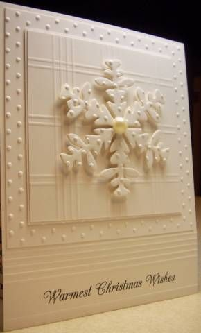 Stampin' Up! Clean and Simple white on white,