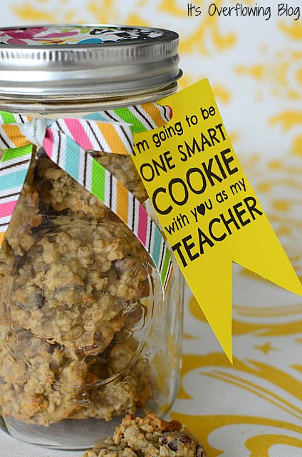 """I'm going to be one smart cookie with YOU as my teacher!"" -- Precious back to school gifts for your child's new teacher!"