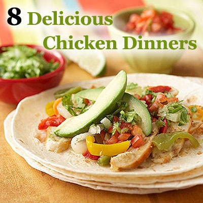 Try these 8 fresh takes on chicken--all use a rotisserie chicken to make #dinner prep super-speedy! Get the #recipes: www.parents.com/...