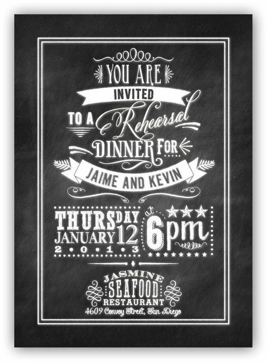A chalkboard-style invite.