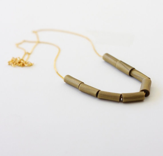 gold beaded necklace from AMM