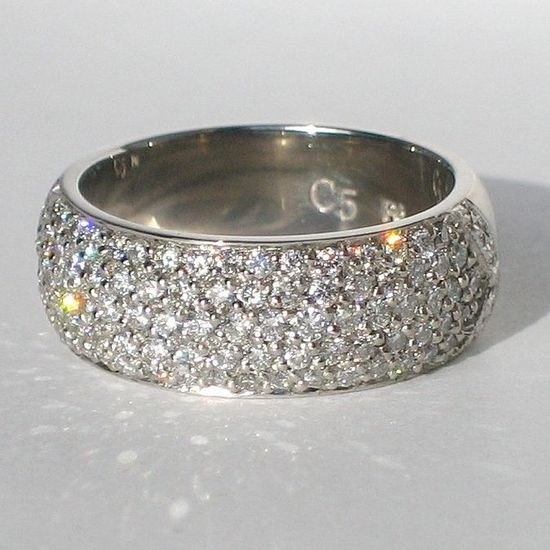 Five-row Diamond Wedding Band by Sulusso - Sustainable Jewelry, via Flickr... I would want band to be more narrow in back.