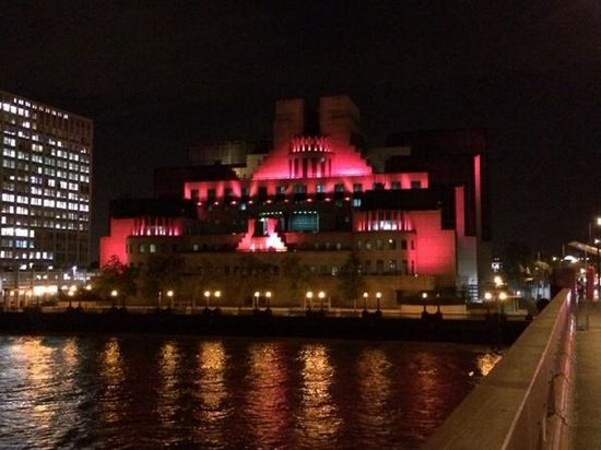 MI6 Building #wearitpink