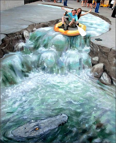 3D Street Art - 3D Street Art---This is so cool!