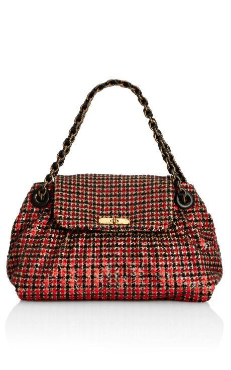 Red Tweed Girls Mae Handbag - Marc Jacobs