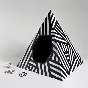 Energy Pyramid Cat House, $24, now featured on Fab  by Tiziana Agnello for LoveThyBeast !!