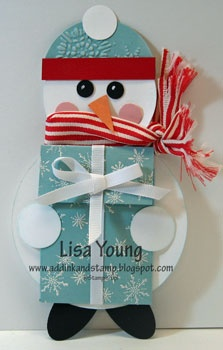 Snowman Gift Card Holder ~ Add Ink and Stamp