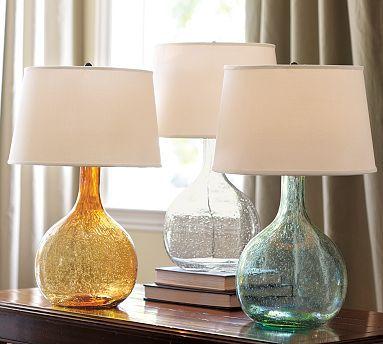 Eva Colored Glass Lamp $99.00