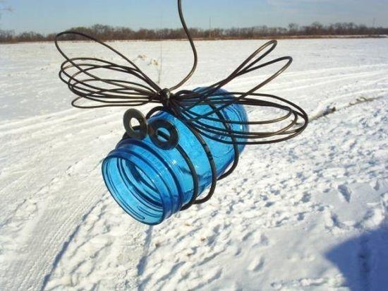 mason jar dragonfly