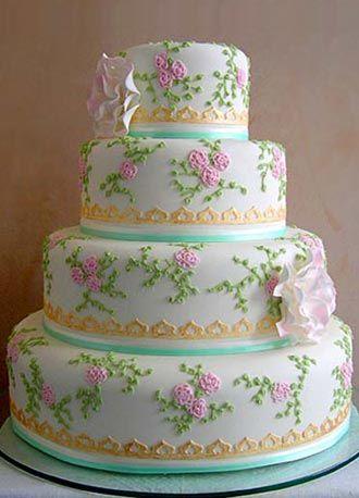 Gorg! - 'Ribbons and Roses' wedding cake     :