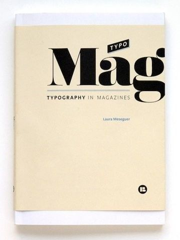 Font typography magazine