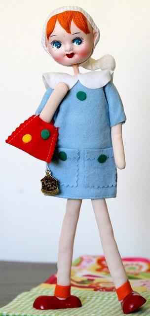 Vintage pose doll