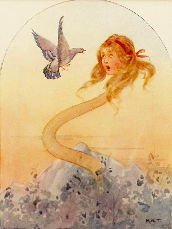 I Am Not a Serpent - Alice in Wonderland. Margaret Tarrant
