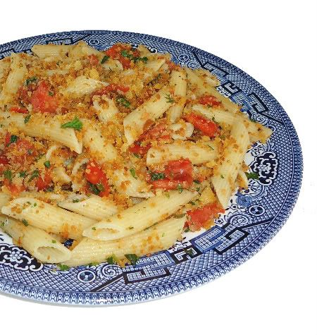 Pasta With Bread Crumbs and Herbed Tomatoes