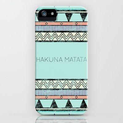 Hakuna Matata iPhone Case by Lala - $35.00