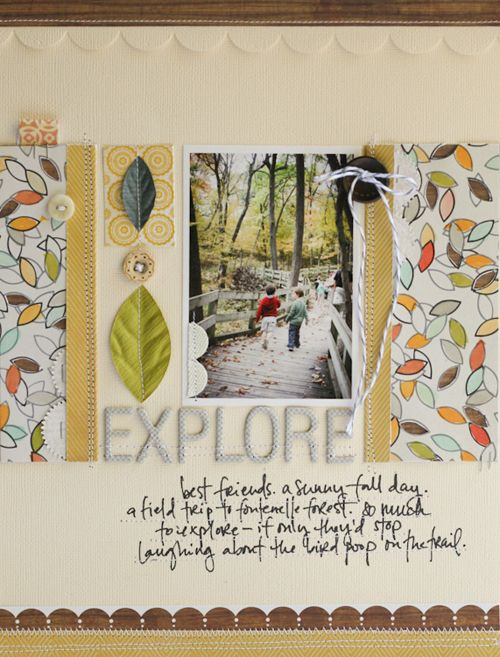 layout by @gluestickgirl (Lisa Truesdell) featuring our HANDMADE kit