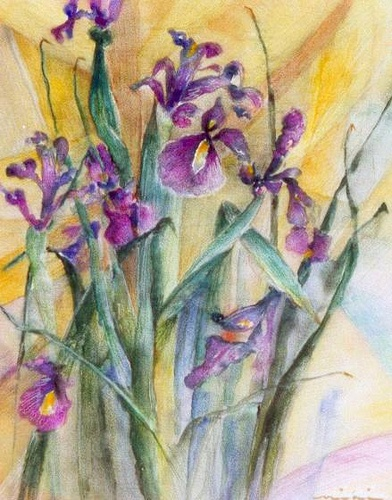 Watercolour Flowers painting 5 by Miki, Queen of Planet Goodaboom, via Flickr