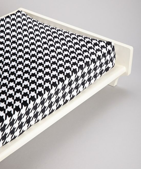 Take a look at this Lolly Gags Houndstooth Minky Changing Pad Cover on zulily today!