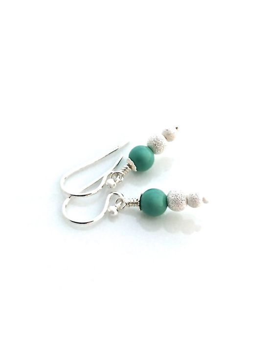 Mint green crystal pearl and sterling silver #mint #green #earrings #vegan  by #UrbanClink, $20.00