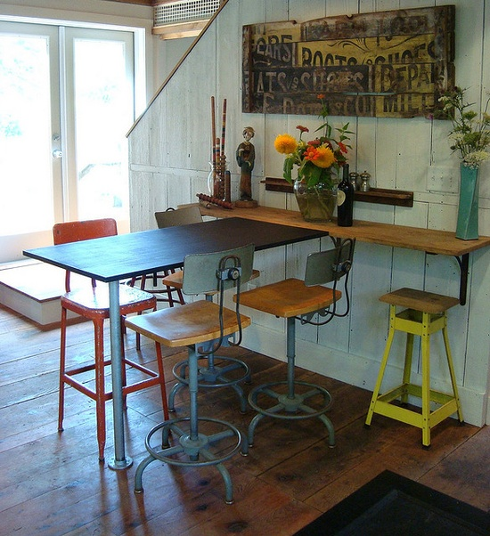 love the stools. bar idea for limited space?